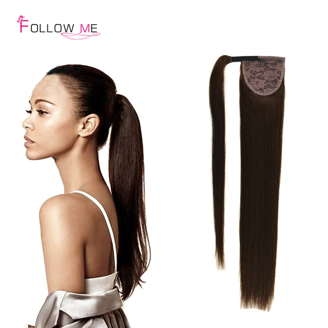 Malaysian Remy Ponytail Human Hair Extensions Wrap Around