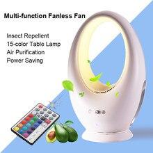J70 Multifunktions Elektrische Blattloser Ventilator Mit Fernbedienung Kein  Blatventilator Abweisend/luftreinigung/15 Farbe Nachtlichter
