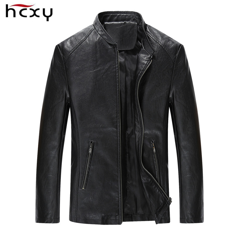 2016 New Fashion Leather Jacket Men Collar Style Coat Male