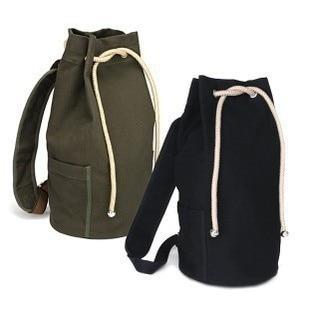 Unisex Canvas Drawstring Bucket Backpack