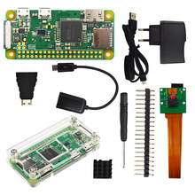 Raspberry Pi Zero W Starter Kit + Acrylic Case + 2A Power Supply + ON/OFF USB Cable + 5MP Camera + OTG Cable + Heat Sinks
