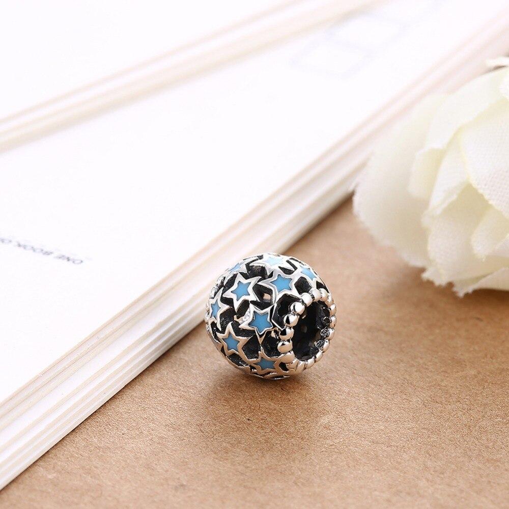 Joyería de moda europea y americana serie de diamantes de Plata de Ley 925 piezas huecas-in Fornituras y componentes de joyería from Joyería y accesorios    3