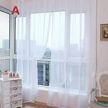 1 PCS Pure Color Tulle Modern Door Window Left Open Translucidus Curtain Drape Panel Sheer Scarf Valances Home Decor 23Apr 26