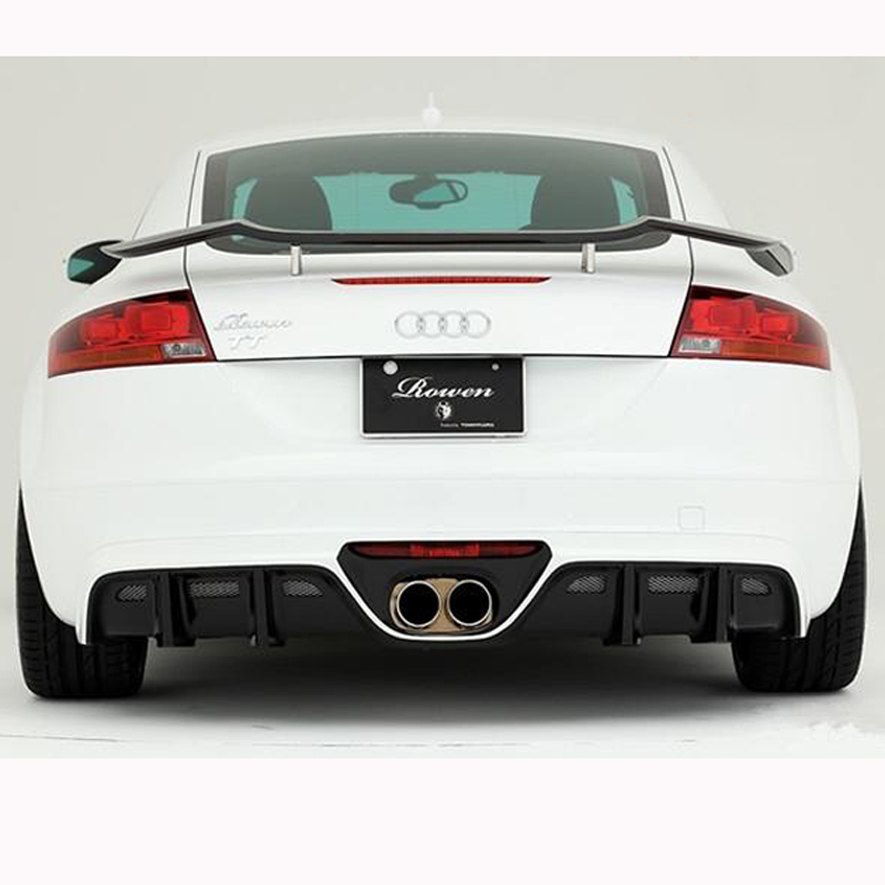 For Audi TT TTS TTRS Spoiler 2 Door TT sedan GT Sports Style Black Carbon Fiber Rear Wing Spoiler ...