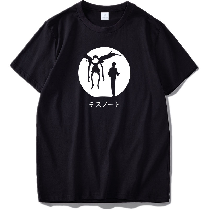 Death Note t shirt Anime Popular Cartoon Fashion Summer Tops Homme High Quality Pure Cotton Streetwear t-shirt Leisure