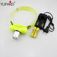 YUPARD Q5 LED Diver Diving waterproof underwater headlight 30m 18650 / 3x AAA battery +2*1800mAh 18650 battery+charger