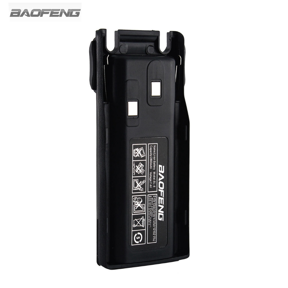 New Baofeng BL-8 2800mAh 7.4V Li-ion Battery For UV-82 UV-8D UV-89 UV-8 Two Way Radio Transceiver RU US