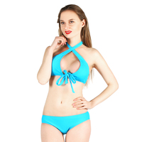 Bikini 2018 Sexy Swimsuit Women Push Up Bikini Set Halter Bandage Swimwear Bikini Low Waist Thong