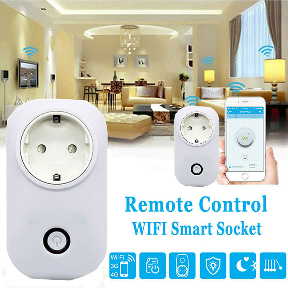 Image 2 - 10pc SONOFF S20 Smart Socket Wifi Wireless APP Remote Smart Home Power Socket Timer Switch for Amazon Alexa Google Home Plug HWC-in Home Automation Modules from Consumer Electronics