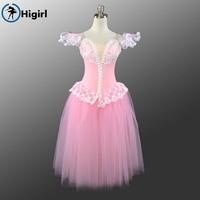 Pink Giselle Ballet Tutu Dress Pink Professional Ballet Tutus Ballerina Dress Kids Giselle Ballet Costumes For