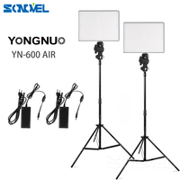 YONGNUO YN600 Air Ultra Thin LED Camera Video Light 3200K 5500K Kit for Canon Nikon Pentax Olympas Samsung DSLR & Camcorder