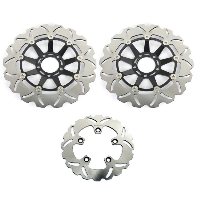 US $296 98 |BIKINGBOY Front Rear Brake Discs Disks Rotors for SUZUKI  GSXR1100 GSX R1100 GSXR 1100 1986 1987 1988 Full Set Wave Light Discs-in  Brake