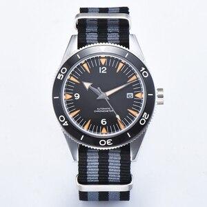 Мужские часы с сапфировым стеклом и керамическим ободком, модные спортивные Автоматические наручные часы, 41 мм
