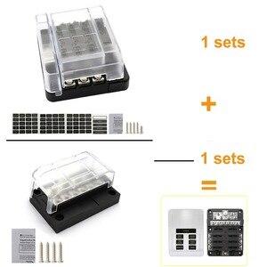 Image 5 - Caja común negativa de 12 bits diseño Modular hoja fusible bloque LED indicador para coche RV fusible para bote caja con lámpara