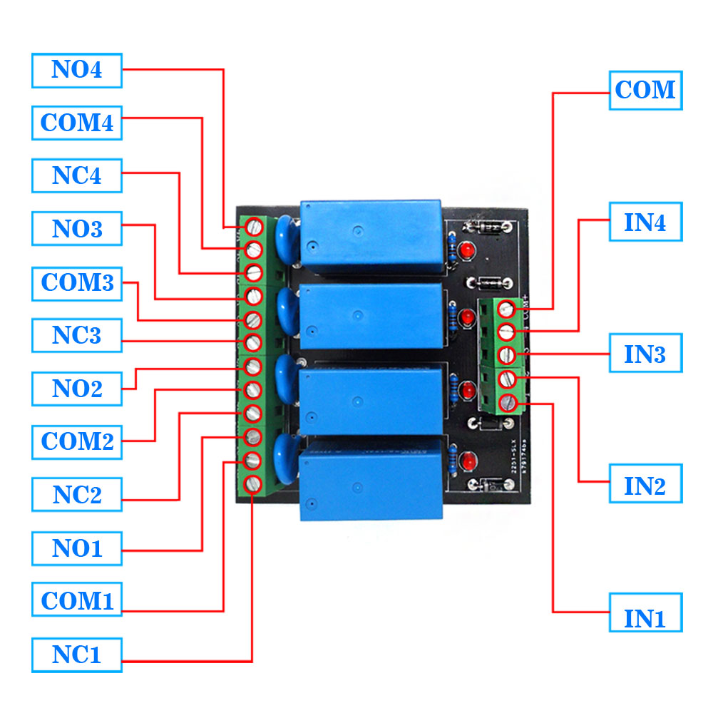 Relay Output 4 Way Relay OEG DC 12V 4 Channel Relay Module Four panels  Driver Board Module-in Sensors from Electronic Components & Supplies on ...