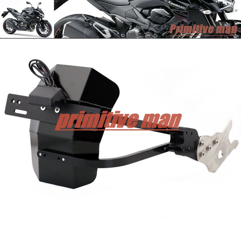 For KAWASAKI Z800 2013 2014 2015 2016 Motorcycle Tail Tidy Fender Eliminator Registration License Plate Holder LED Light motorcycle tail tidy fender eliminator registration license plate holder led light for kawasaki z125 125 2015 2016 free shipping
