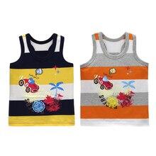 Undershirts Cotton Tees Girls Baby Boys Fashion Children Summer Sleeveless 2pcs/Lot New-Arrival