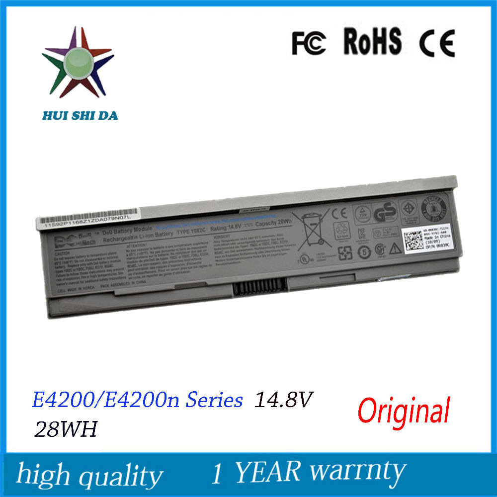 ФОТО 4cells 14.8V 28WH New Original Laptop Battery for Dell E4200 00009 312-0864 451-10644 453-10069 F586J R331H R640C