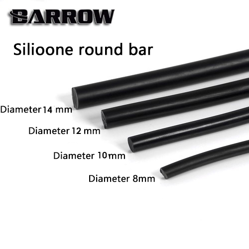 Barrow Silicone Round Bar Water Cooling Rigid Hard Tube 8mm 10mm 12mm 50cm PETG Pipe bending tool equipment pc cooler gadget цена
