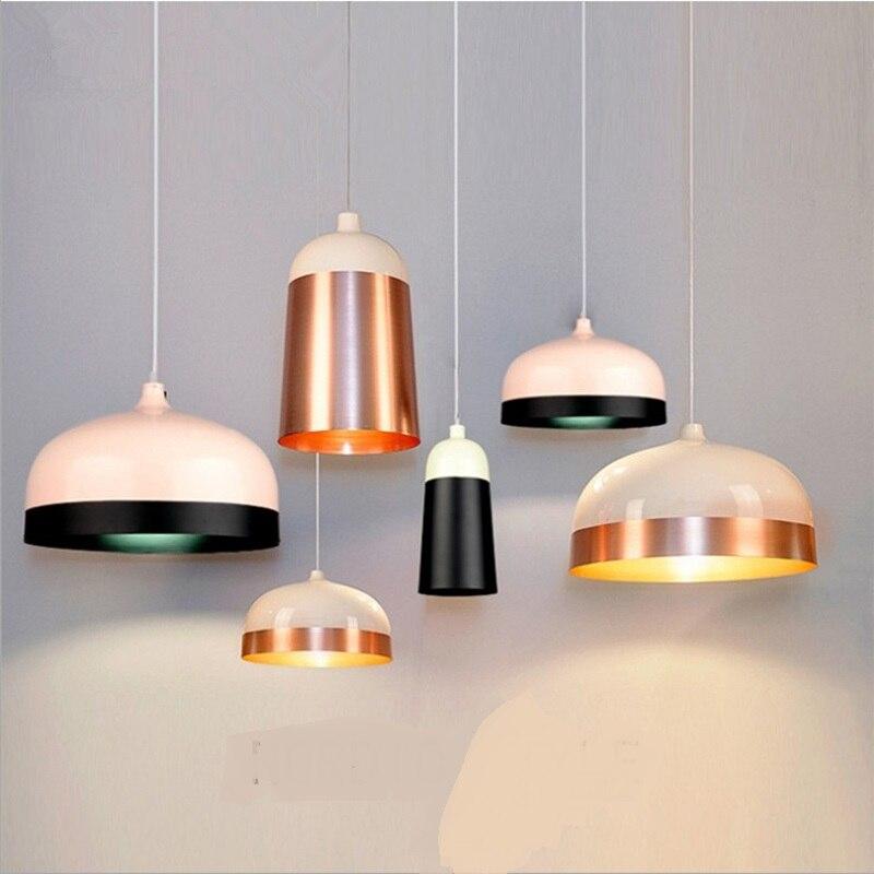 Nordic minimalist Pendant Lights livin bedroom modern simplicity creative personality single aluminum Pendant lamp ZL430 цена