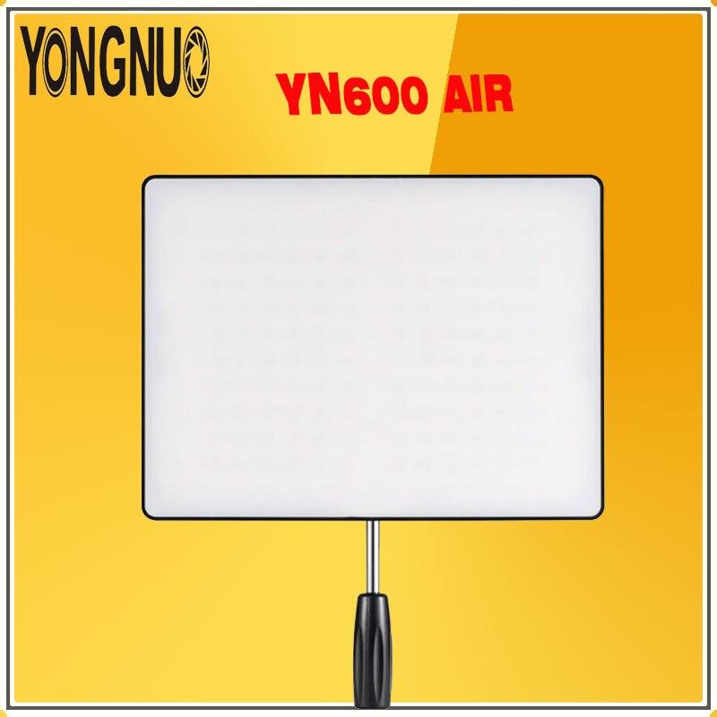YONGNUO YN600 Air 3200 K-5500 K Bi-couleur Photographie Studio Éclairage Ultra Mince Caméra Led Vidéo Lumière panneau lampe Pour Appareils Photo REFLEX