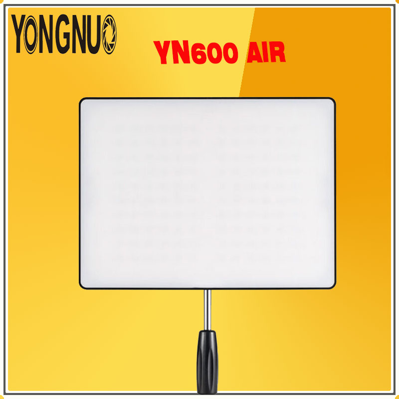 YONGNUO <font><b>YN600</b></font> <font><b>Air</b></font> 3200K-5500K Bi-color Photography Studio Lighting Ultra Thin Camera Led Video Light Panel lamp For DSLR Cameras image