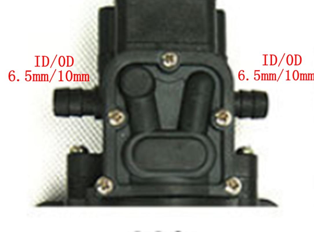 12V DC Electric Mini Diaphragm pump self-priming booster pumnp low traffic for garden cooling car washer 30W 180L/H T6