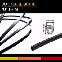 Free Shipping! U Style Black Moulding Trim Strip Car Hood Edge Door Edge Switch Rim Styling 150Meters