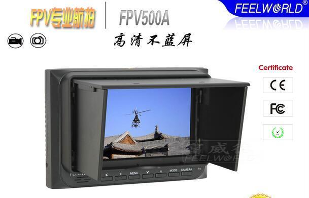 Feelworld FPV-500A 800*480 5 HD Monitor FPV AV Monitor For RC Drones gimbal