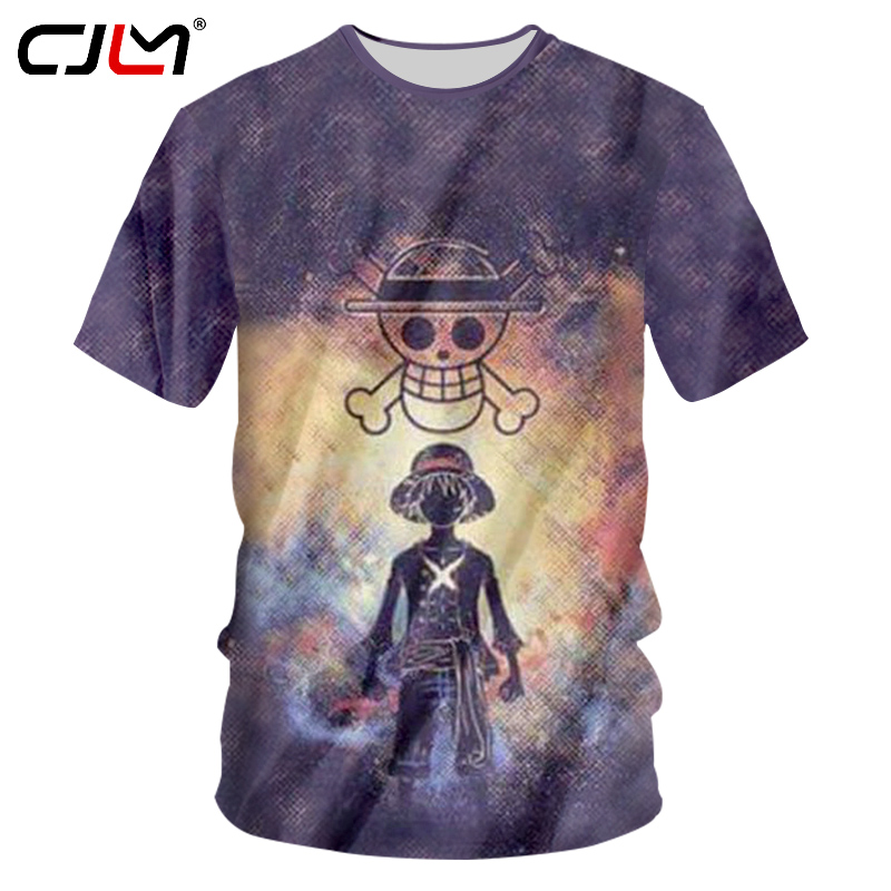 CJLM Men's Casual Tshirts Summer Tops 3D Print One Pieces T-shirts Hombre Hip Hop Streetwer Short Sleeve T Shirts Jerseys Homme