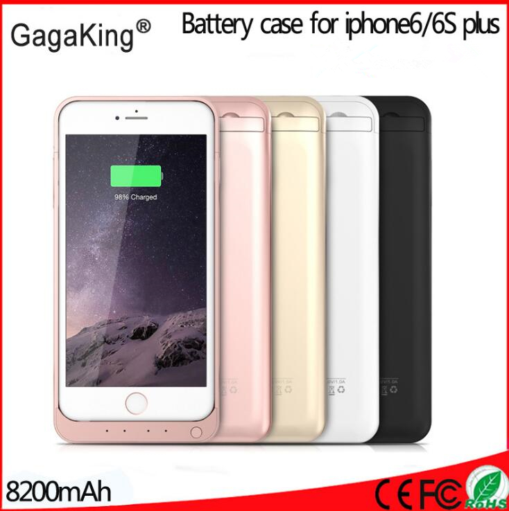 bilder für 8200 mah smart für iphone 6 6s plus ladegerät fall backup power energien-bank für iphone 6s plus batterie fall