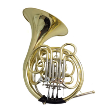 F/Bb French Horn Musical instruments with case and mouthpiece 4 Valves Double french horns One-piece Bell 2015 new jazzor 4 key double french horn entry model bb f wind instruments french horns jzfh e310 monel valves with padded box