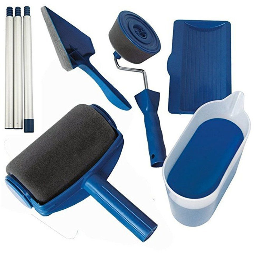New Hot Multi-function DIY Paint Brush Roller Brush Handle Tool Household Corner Brush Home Office Room Wall Multifunctional P