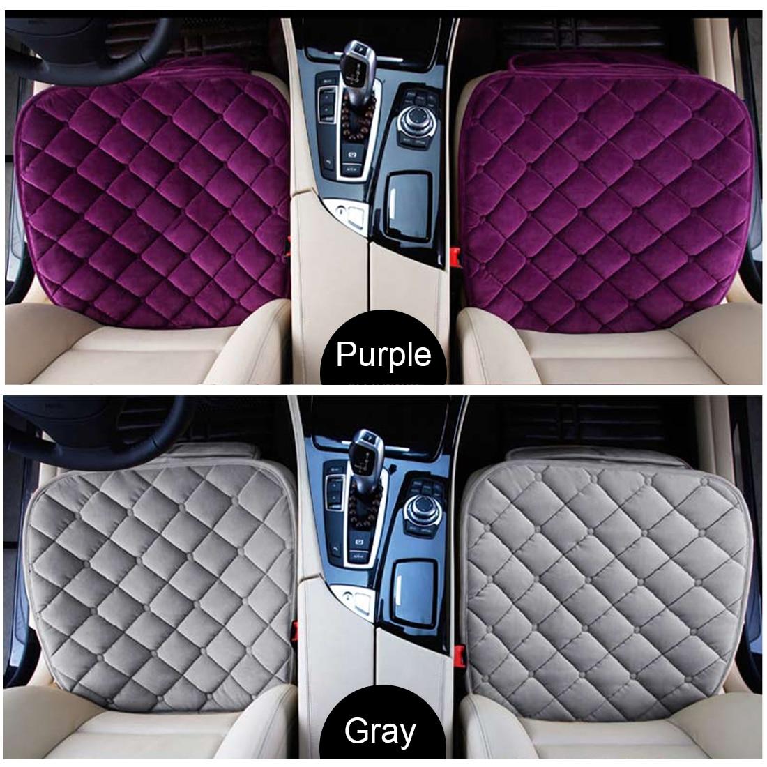 Dewtreetali зима Один бархат передние сиденья протектор кресло водителя Pad дышащие теплые подушки сиденья автомобиля аксессуары