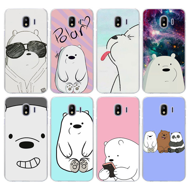 54a7a4fc6a cartoon we bare bears ice bear Case Cover for Samsung Galaxy J3 J4 Plus J6  J6 Plus J7 J8 2018 J5 J7 prime hard PC phone case