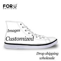 FORUDESIGNS/мужские парусиновые туфли с высоким берцем и логотипом; обувь на шнуровке; Вулканизированная обувь; модная обувь на плоской подошве д...