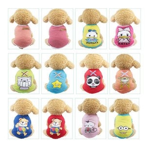 Cute Cartoon Pet Dog Vest For Small Dogs Cats Breathable Summer Puppy Cotton T Shirt Chihuahua Clothing French Bulldog Clothes