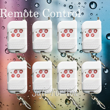 Free shipping New Home security alarm 8pcs White wireless remote control sensor for 433mhz High quality GSM alarm system