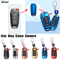 10set car key case auto decoration for ford fusion 2014 Mondeo EVEREST Ecosport Ranger Escape remote car key case holder shell