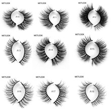 High quality 3D False Eyelashes Mink Lashes Handmade Thick Natural  Fake Eye Extension Super Quality 11 styles