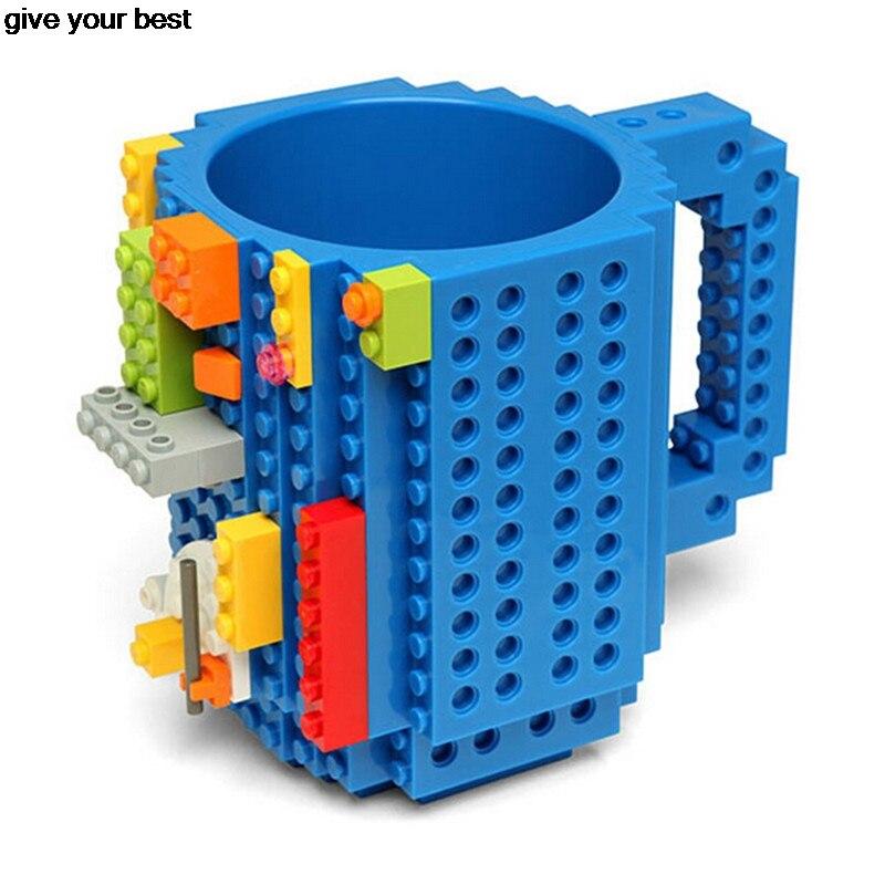 Build-Auf Ziegel Lego Becher Typ Bausteine Kaffeetasse DIY Block Puzzle Becher Weihnachtsgeschenk ISABEL BECHER