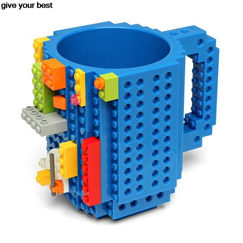 Build-On Brick Lego Mug Type Building Blocks Coffee Cup DIY Block Puzzle Mug Christmas Gift ISABEL MUG
