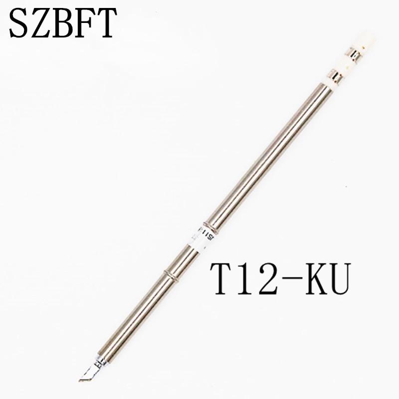 SZBFT 1ピースHakko t12はんだステーション用T12-KU電気はんだごてFX-950 / FX-951ステーション用のはんだチップ