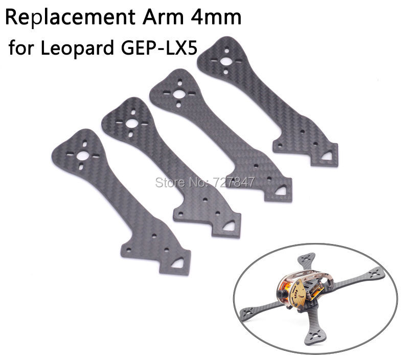 FPV Replacement Frame Carbon Fiber Arm 4mm for GEPRC Leopard GEP-LX5 GEP LX5 geprc gep zx4 gep zx5 gep zx6 170mm 190mm 225mm 4 axis 3k carbon fiber frame kit with 12v 5v pdb board for rc multicopter