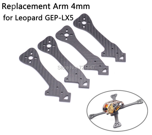 FPV Replacement Frame Carbon Fiber Arm 4mm for Leopard GEP-LX5 GEP LX5 220mm  / GEP-LX6 LX6 255mm