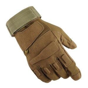 Image 1 - Nuevos hombres y mujeres táctico guantes al aire libre antideslizante ciclismo deportivo de la mitad de dedo completo dedo luchando guantes