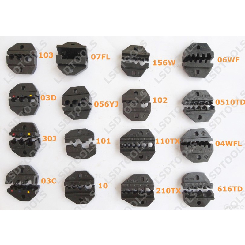 Austauschbare Crimpen Sterben Sets/backen Für Pneumatische Crimpen Werkzeug Bin-30 & Elektrische Crimpen Werkzeug Em-6b2 Und Hand Crimper Zange Hohe Belastbarkeit Zangen
