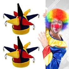 7069e41fe Chapéu de Bobo Da Corte Palhaço engraçado Multicolor para o Dia Das Bruxas  Natal Adereços Traje Festa de Carnaval