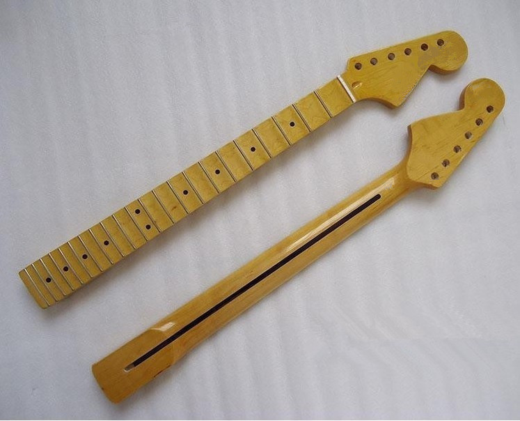 ФОТО Top quality  22 Fret  inlay dots concave fingerboard yellow Electric Guitar Neck  Wholesale Guitar Parts musical instruments