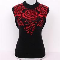Большой размер Чистый коза, кашемир бриллианты жаккард толстый вязаный женский модный свитер, пуловер Красный 3 цвета M/5XL